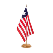 "Liberia - Table Flag 6x9"", wooden"