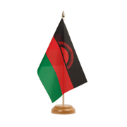 "Malawi new Table Flag - 6x9"", wooden"