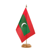 "Maldives - Table Flag 6x9"", wooden"