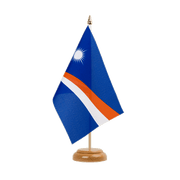 "Marshall Islands - Table Flag 6x9"", wooden"
