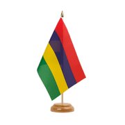 "Mauritius - Table Flag 6x9"", wooden"