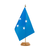 "Micronesia - Table Flag 6x9"", wooden"