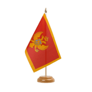 "Montenegro - Table Flag 6x9"", wooden"