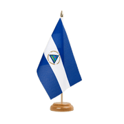 "Nicaragua - Table Flag 6x9"", wooden"