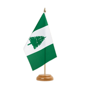 "Norfolk Islands - Table Flag 6x9"", wooden"