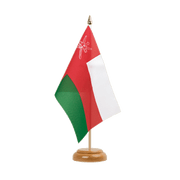 "Oman - Table Flag 6x9"", wooden"