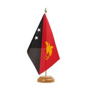 "Papua New Guinea - Table Flag 6x9"", wooden"