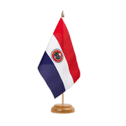 "Paraguay Table Flag - 6x9"", wooden"
