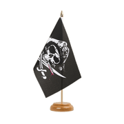 "Pirate with bloody sabre - Table Flag 6x9"", wooden"
