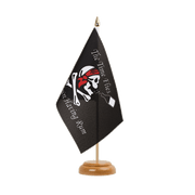 "Pirate The Time Flies When You Are Having Fun - Table Flag 6x9"", wooden"
