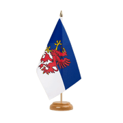 "Pomerania - Table Flag 6x9"", wooden"