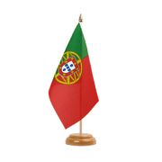 "Portugal - Table Flag 6x9"", wooden"
