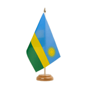 "Rwanda - Table Flag 6x9"", wooden"