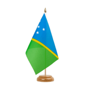 "Solomon Islands - Table Flag 6x9"", wooden"