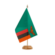 "Zambia - Table Flag 6x9"", wooden"