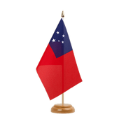 "Samoa - Table Flag 6x9"", wooden"