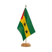 "Sao Tome and Principe - Table Flag 6x9"", wooden"