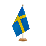 "Sweden - Table Flag 6x9"", wooden"