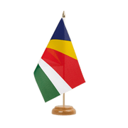"Seychelles - Table Flag 6x9"", wooden"
