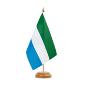 "Sierra Leone - Table Flag 6x9"", wooden"