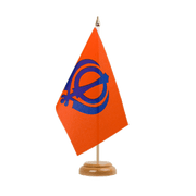"Sikhism - Table Flag 6x9"", wooden"