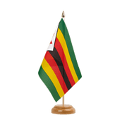"Zimbabwe - Table Flag 6x9"", wooden"