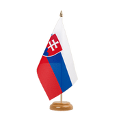 "Slovakia Table Flag - 6x9"", wooden"