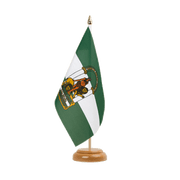 "Andalusia - Table Flag 6x9"", wooden"
