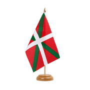 "Basque country - Table Flag 6x9"", wooden"