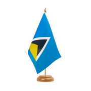 "Saint Lucia - Table Flag 6x9"", wooden"