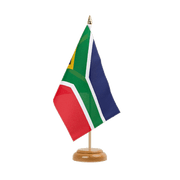 "South Africa - Table Flag 6x9"", wooden"