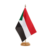 "Sudan - Table Flag 6x9"", wooden"