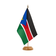 "Southern Sudan - Table Flag 6x9"", wooden"