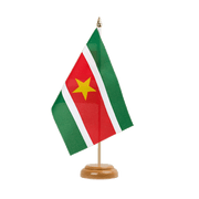 "Suriname - Table Flag 6x9"", wooden"