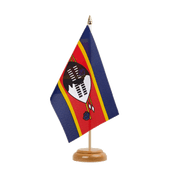 "Swaziland - Table Flag 6x9"", wooden"