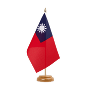 "Taiwan - Table Flag 6x9"", wooden"