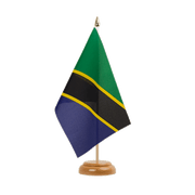 "Tanzania - Table Flag 6x9"", wooden"