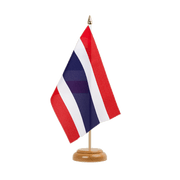 "Thailand - Table Flag 6x9"", wooden"