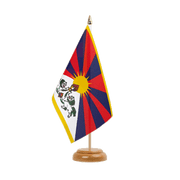 "Tibet - Table Flag 6x9"", wooden"