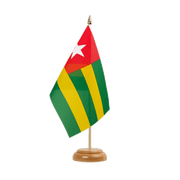 "Togo - Table Flag 6x9"", wooden"