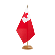"Table Flag Tonga - 6x9"", wooden"