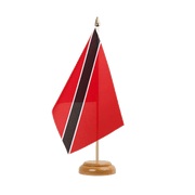 "Trinidad and Tobago - Table Flag 6x9"", wooden"