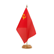 "USSR Soviet Union - Table Flag 6x9"", wooden"