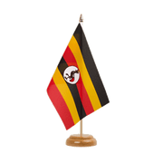 "Uganda - Table Flag 6x9"", wooden"