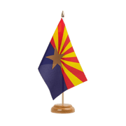 "Arizona - Table Flag 6x9"", wooden"
