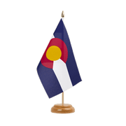"Colorado - Table Flag 6x9"", wooden"