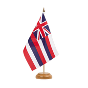 "Hawaii - Table Flag 6x9"", wooden"