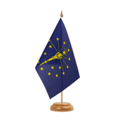"Iniana - Table Flag 6x9"", wooden"