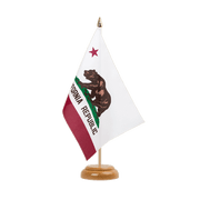 "California - Table Flag 6x9"", wooden"