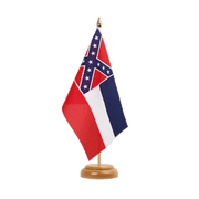Drapeau de table Mississippi - 15 x 22 cm, bois